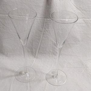 Martini & Rossi Champagne Glasses Millennium 2000